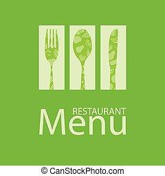 תפריט, כרטיס, מסעדה