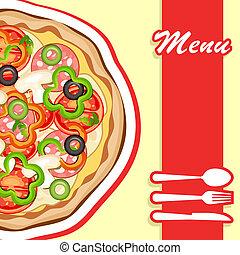 תפריט, פיצה