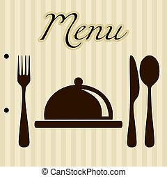 תפריט, רקע, מסעדה