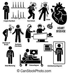 תקוף, קרדיוווסקולארי, מחלה, לב