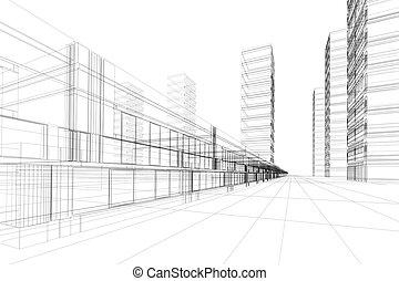 תקציר, אדריכלות, 3d