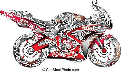 תקציר, אופנוע