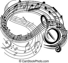 תקציר, מוסיקה, ראטרו, רקע