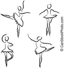 תקציר, רקדנים, קבע, בלט