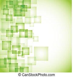 תקציר, רקע, ירוק, ריבוע