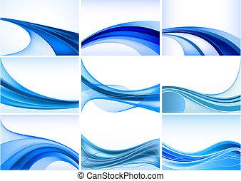 תקציר, רקע כחול, קבע, וקטור