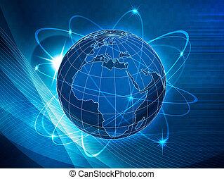 תקשורות, גלובלי, תחבורה, רקע