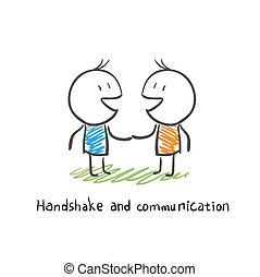 תקשורת, לחיצת יד