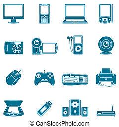 תקשורת, מחשב, icons.