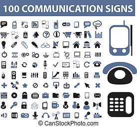 תקשורת, סימנים, 100
