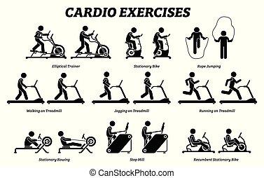 תרגילים, gym., לאלף, כארדיו, כושר גופני