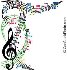תרכובת, vecto, רואה, תימה, רקע, מוסיקה, אופנתי, מוסיקלי