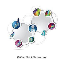 תרשים, מושג, דוגמה של עסק, רשת
