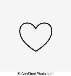 תרשים של לב, איקון