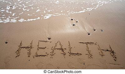 -, חול, בריאות, לכתוב