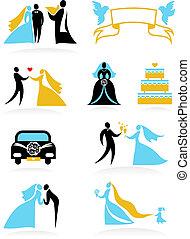 -, חתונה, 2, איקונים