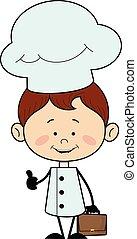 -, להראות, בוהן, אופי, טבח, מטבח