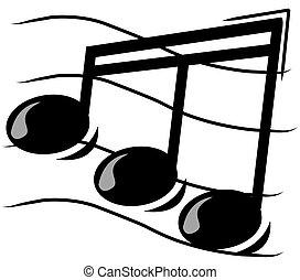 -, צוות, הערה מוסיקלית, דוגמה