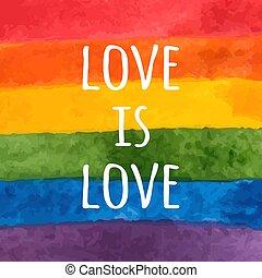 -, card., אהוב, rainbow., flag., slogan., גאווה, וקטור, וואטארכולור, צבע, lgbt, העבר, יום, דוגמה, סבילות