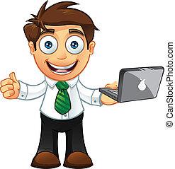 -thumbs, מחשב נייד, , איש של עסק