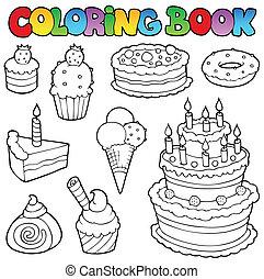 1, עוגות, לצבוע, שונה, הזמן