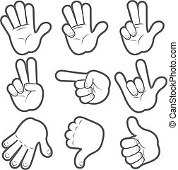 #1, ציור היתולי, ידיים