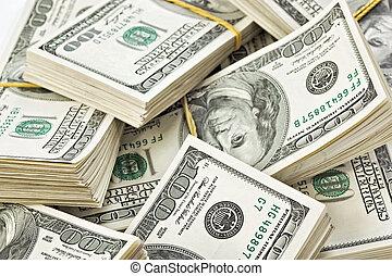 100, הרבה, אותנו, סמוך, ארוז, דולרים, רואה