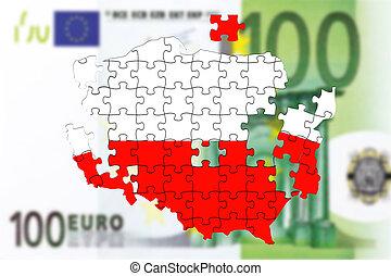 100, לפול בנפרד, pln, בלבל, זלוטיצ', פולין, polisch, כסף