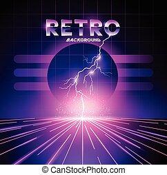 1980's, ראטרו, רקע, ברק