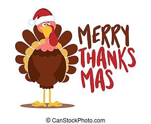 2, חג המולד, הודיה, thanksmas, שמח, one), שמח, (merry