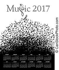2017, מוסיקה, לוח שנה