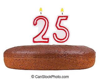 25, נרות, מספר, הפרד, עוגה של יום ההולדת