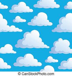 3, עננים, seamless, רקע