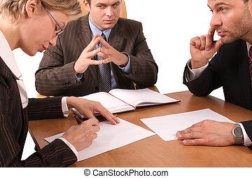 3, פגישה, עסק