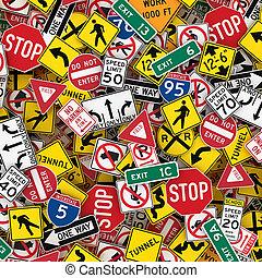 3d, דוגמה, אותנו, רקע, סימנים, דרך