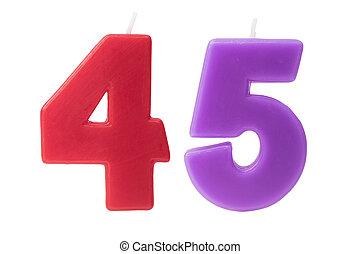 45th, יום הולדת, הפרד, נרות