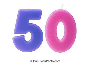 50th, יום הולדת, הפרד, נרות