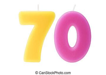 70th, יום הולדת, הפרד, נרות