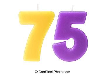 75th, יום הולדת, הפרד, נרות