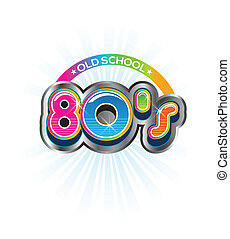 80s, בציר, בית ספר, ישן, לוגו