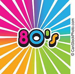 80s, בציר, צבע, וקטור, רקע