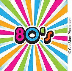 80s, וקטור, אומנות, קפוץ, רקע