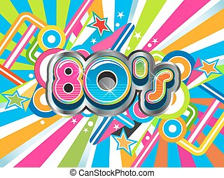 80s, מפלגה, דוגמה, לוגו