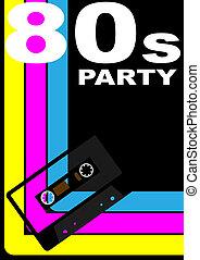 80s, מפלגה, פוסטר