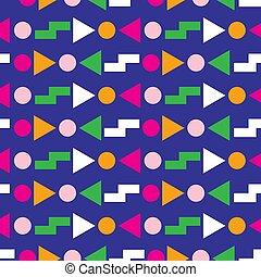 80s, תבנית, עיצוב גיאומטרי, seamless