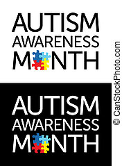 autism, מודעות, חודש