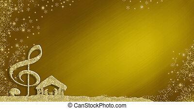 backgrounds., הסגר, מוסיקלי, כרטיס, הופעה, חג המולד