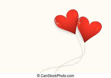 balloon, הפרד, רקע, לבבות, אדום לבן