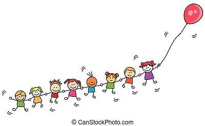 balloon, ילדים, לשחק