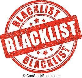 blacklist, בול של גומי